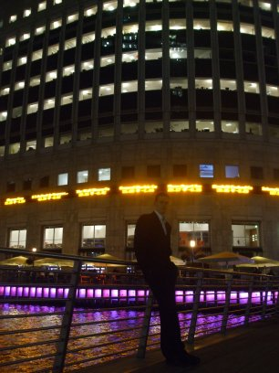 Night at Canary Wharf, 2010