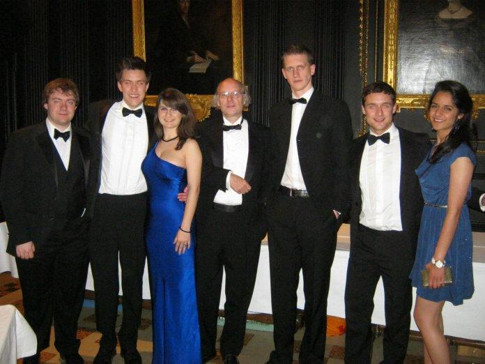 With Bjarne Stroustrup, creator of C++. Queens' College, Cambridge (2012 May)