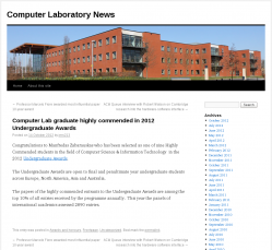 Computer Laboratory News, University of Cambridge