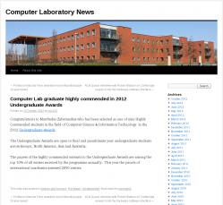 Computer Laboratory News, University of Cambridge